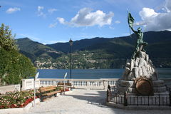 brienno lake como Fotografia Stock