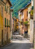 Scenic sight in Brienno, on the Como Lake, Lombardy, Italy. Stock Images
