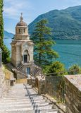 Scenic sight in Brienno, on the Como Lake, Lombardy, Italy. Stock Image