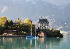 Brienz湖,瑞士 库存图片