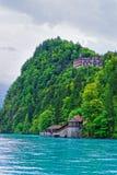 Brienz Brienzer Rothorn för sjö för Giessbach landningetapp berg Bern Switzerland Royaltyfri Fotografi