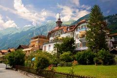 Brienz, cantone di Berna, Svizzera Immagini Stock Libere da Diritti