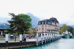 Brienz cruise. Interlaken View from Brienz cruise Stock Photos