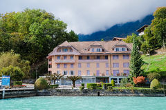 Brienz cruise. Brienz lake View from Brienz cruise Stock Images