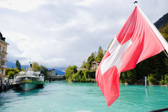 Brienz cruise. Brienz lake View from Brienz cruise Stock Photography