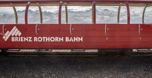 Brienz-Rothorn培训瑞士-蒸汽培训VII 库存照片
