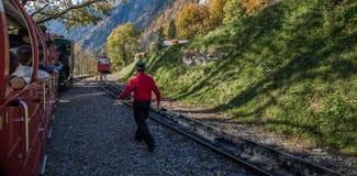 Brienz-Rothorn培训,瑞士 图库摄影