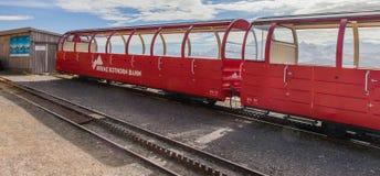 Brienz-Rothorn,瑞士-齿轨铁路跟踪 图库摄影