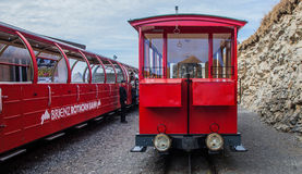 Brienz-Rothorn, Switzerland - Red Carriage Royalty Free Stock Photography