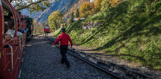 Brienz-Rothorn Train, Switzerland Stock Photography