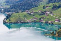 BRIENZ SWITZERLAND/EUROPA, WRZESIEŃ 22, -: Widok blisko Brienz wewnątrz Fotografia Royalty Free