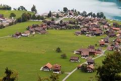 BRIENZ SWITZERLAND/EUROPA, WRZESIEŃ 22, -: Widok blisko Brienz wewnątrz Obrazy Royalty Free
