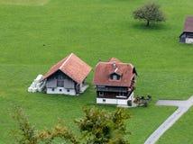 BRIENZ SWITZERLAND/EUROPA, WRZESIEŃ 22, -: Szwajcarski szalet snear Fotografia Stock