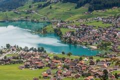BRIENZ SWITZERLAND/EUROPA, WRZESIEŃ 22, -: Widok Brienz w t Obraz Royalty Free
