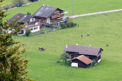 BRIENZ, SWITZERLAND/ EUROPE - SEPTEMBER 22:  Swiss Chalet snear. Brienz in the Bernese Oberland region of Switzerland on September 22, 2015 Royalty Free Stock Photos