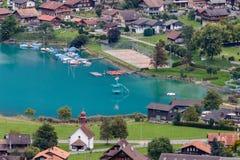 BRIENZ, SWITZERLAND/ EUROPE - SEPTEMBER 22:  View of Brienz in t Stock Image
