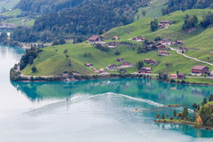 BRIENZ, SWITZERLAND/ EUROPE - SEPTEMBER 22:  View near Brienz in Royalty Free Stock Photography
