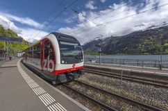 At Brienz train station royalty free stock images