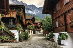 Brienz village, Berne canton, Switzerland Royalty Free Stock Images