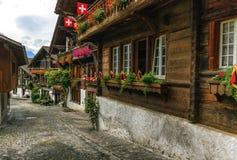 Brienz village, Berne canton, Switzerland Stock Photo