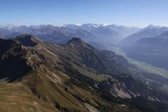Brienzer Rothorn. Fall in the Swiss alps royalty free stock photography