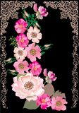Brier flower decoration on black Stock Photography