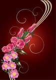 brier kwiatu czerwieni róży fala ilustracji