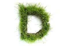 Brieven die van gras worden gemaakt Royalty-vrije Stock Foto
