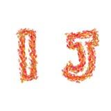 Brieven I, J van de herfst wordt gemaakt die gaat weg Royalty-vrije Stock Afbeeldingen