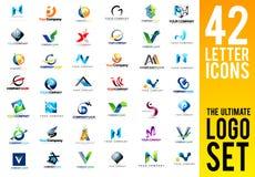 Brieven Logo Set Collection stock illustratie