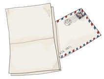 brieven met envelopwijnoogst Royalty-vrije Stock Foto's