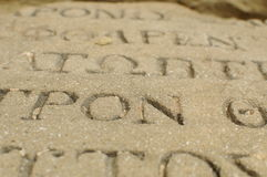 Brieven op steen Stock Afbeelding