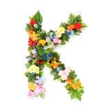Brieven van bladeren en bloemen royalty-vrije stock fotografie