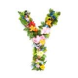 Brieven van bladeren en bloemen royalty-vrije stock foto's