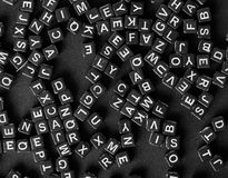 Brieven van het alfabet stock foto's
