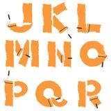 brieven van het alfabet met verfrol die wordt geschilderd Stock Fotografie