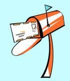 Brievenbus met Brief in Pop Art Style Stock Afbeelding