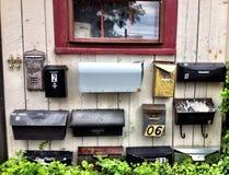 brievenbussen Stock Fotografie