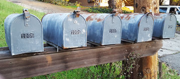 brievenbussen Royalty-vrije Stock Afbeeldingen