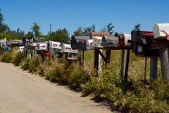 Brievenbussen in Ramona, Californië Royalty-vrije Stock Foto's