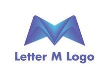 Brievenm vector logotype Royalty-vrije Stock Foto's
