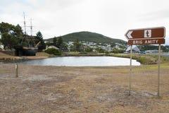 Brig Amity Replica Ship. Albany - Australia royalty free stock image