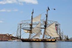 Brig Niagra dans le port de Duluth Images libres de droits
