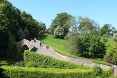 Brig o' Ponte famoso di Doon sopra il fiume Doon, Alloway Fotografie Stock