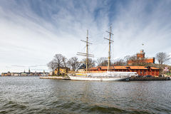 The Brig Tre kronor af Stockholm at Skeppsholmen, Sweden Royalty Free Stock Image