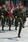 Brigada sérvio do Special do exército Foto de Stock