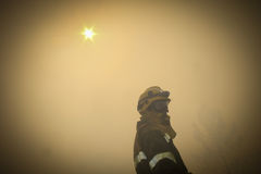 Brigade de lutte contre l'incendie photographie stock