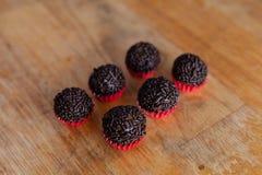 Brigadeiro (бразильская конфета) Стоковая Фотография