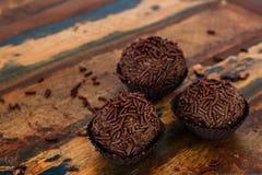 Brigadeiro brésilien de bonbon de chocolat Image libre de droits