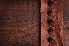 Brigadeiro brésilien de bonbon de truffe de chocolat Image stock
